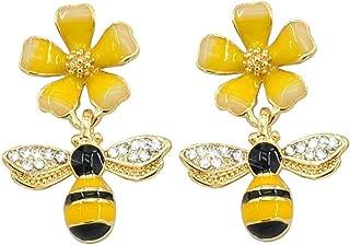 Halloween Gift Cubic Zirconia Star Flower Bee Dangle Drop Stud Earrings for Girls Hypoallergenic