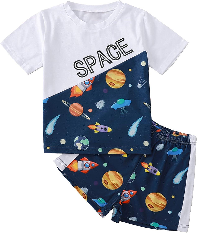 Kaerm Kids Boys Summer Cotton Casual Outfits Loungewear Beachwear T-Shirts Top with Shorts Set Tracksuit
