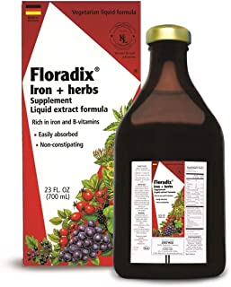 Salus Haus Floradix Liquid Iron + Herbs 23 oz XL Size - Iron Supplement with B Vitamins, Vegetarian, Vitamin C, Non Constipating - Supports Energy & red Blood Cell Production for Women & Men