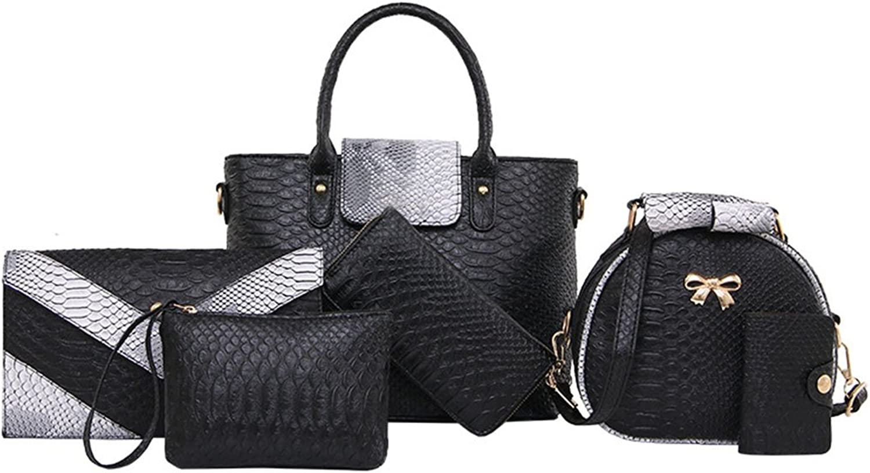 SIXPIECE Womens Serpentine Handbag Shoulder Bag Messenger Handbags TopHandle Bags