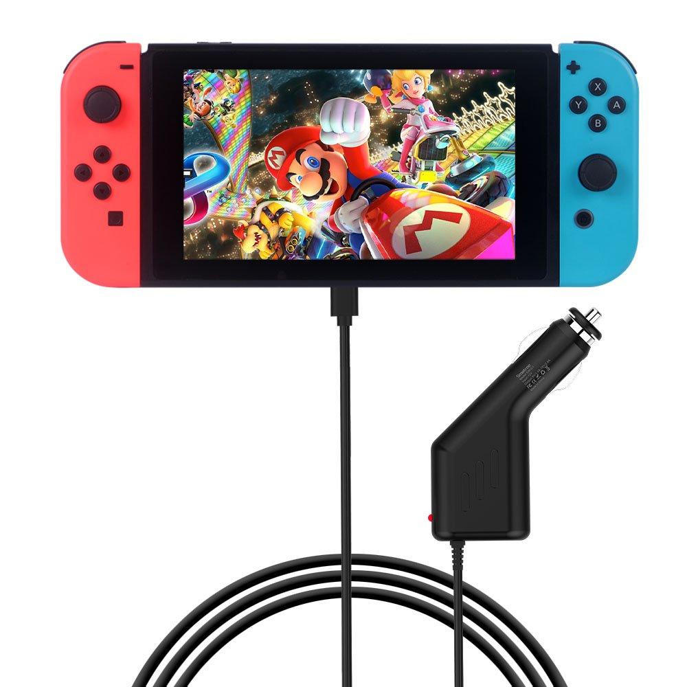 Smatree Cargador de Coche 39W para Nintendo Switch, 15V / 2,6A Jugar en Alta Velocidad y Carga con cable rápido de 5 pies para Nintendo Switch: Amazon.es: Electrónica