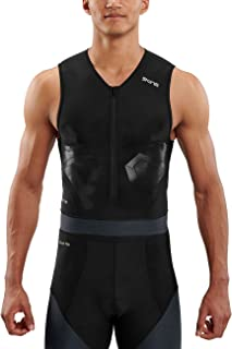 SKINS Men's DNAmic Triathlon S/L TOP BLAC, Black/Carbon
