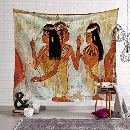 KBIASD Tapiz Antiguo Egipto Serie Tapiz de Tela para el hogar Tapiz Mural Toalla de Playa 150x130cm
