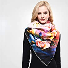 Wrap Shawl شال Scarf Women Scarf Wool Shawl Fashion Thicken Warm Wrap Printing Scarves And Stoles Soft Textured Winter Scarf (Color : 02)