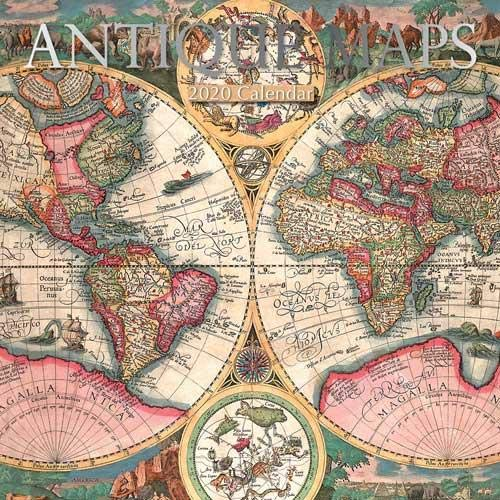 Antique Maps: 2020 Square Wall Calendar