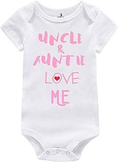 WINZIK Baby Boy Girl Bodysuit Outfit Uncle Auntie Grandpa Grandma Love Me One-piece Romper Jumpsuit T-Shirt Clothing