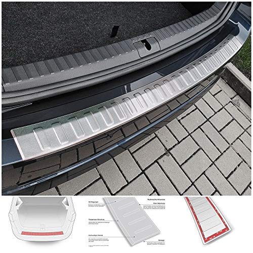 teileplus24 AL152 Ladekantenschutz Aluminium für Skoda Octavia 4 Kombi 2020-, Farbe:Silber