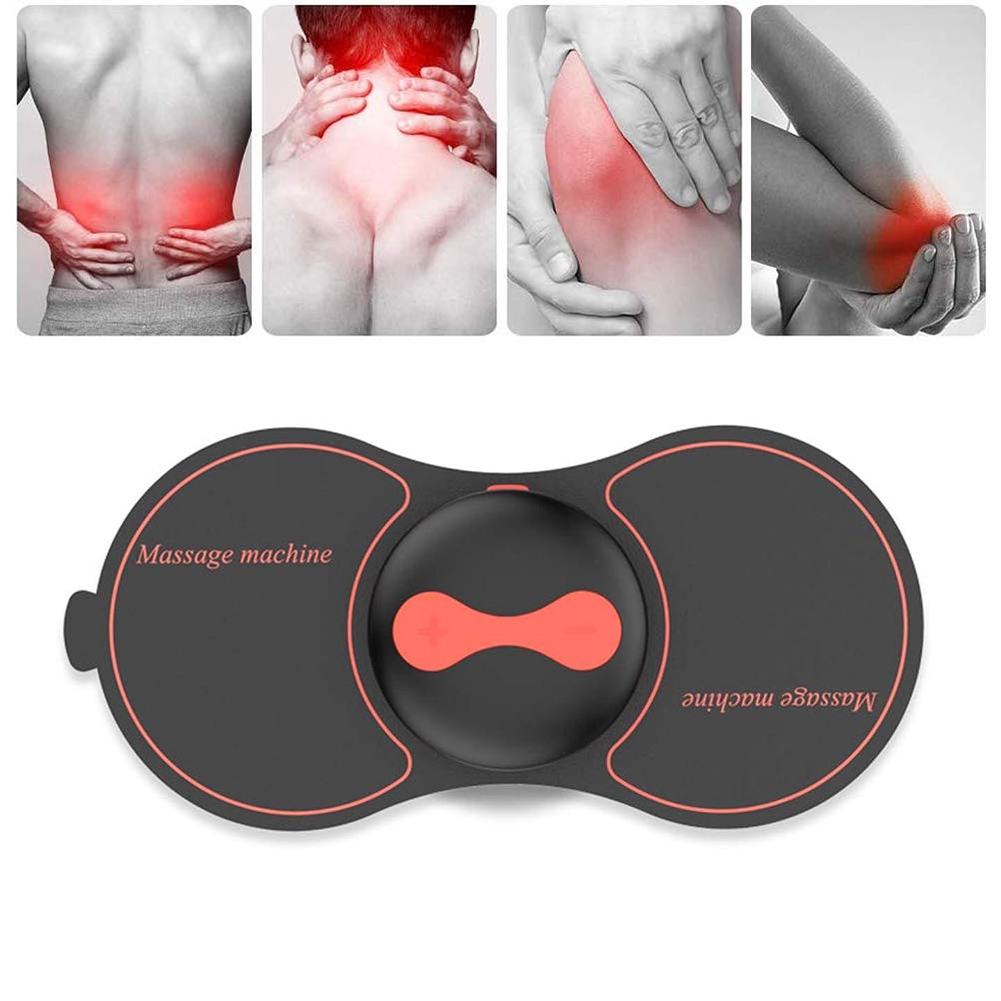 心からキャメルフォーマルBesline マッサージ ミニマッサージ EMSパッド 筋肉刺激 USB充電式 5モデル 10レベル 小型 軽量 持ち運び便利 首/肩/腰/背中/手/足向け 多機能 リラックス 部屋 オフィス 旅行