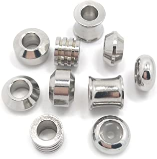 Stainless Steel Beads 20pcs Stainless Steel Large Hole Beads Fit European Bracelet DIY