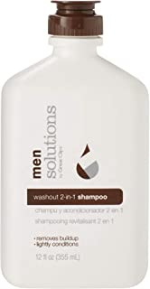 Solutions by Great Clips Men's Washout 2-in-1 Shampoo, 12oz   Daily Shampoo & Conditioner for Men   Breaks Down Excess Sty...