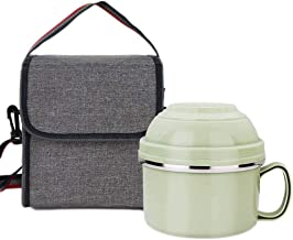 WCHCJ Insulation Lunch Box,Stainless Steel Thermal Lunch Tier Vacuum Leak-Proof Food Container Insulated Storage