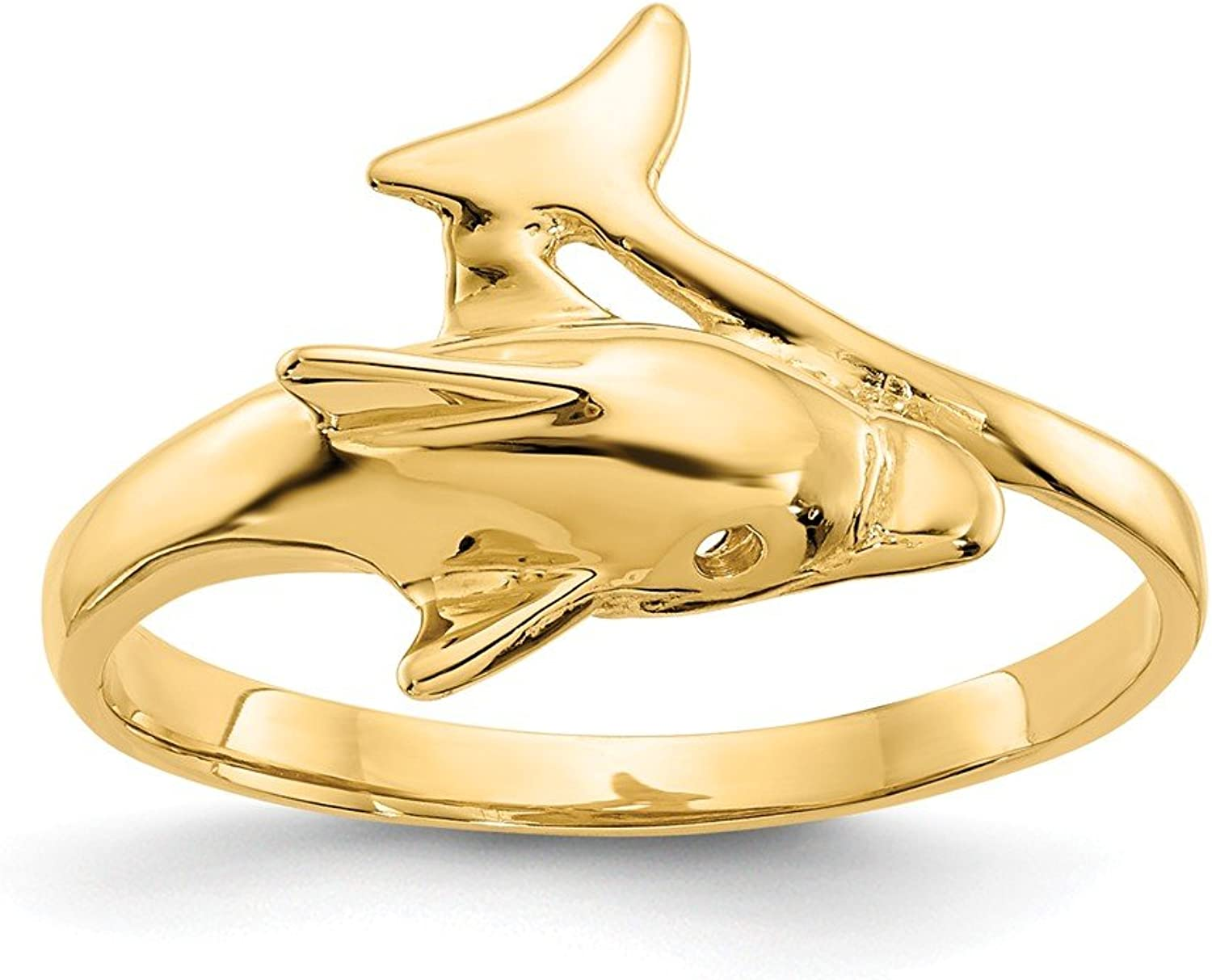 Beautiful Yellow gold 14K Yellowgold 14k Dolphin Ring