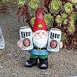 Fascino-M Lustige GNOME – Dumme Solar-Statuen im Freien von faulen Gnomen die Bier LED-Akzentlichtern Trinken – Gartenzwerge, Solarstatuen,Weltmeisterschaft Oktoberfest Gartendekoration