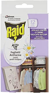 Raid Blad, mottenbescherming, 12 vellen