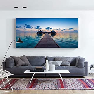 Canvas Painting Decorative Paintings Sunset Over The sea Wall Art Canvas Prints Nature Landscape Wall Paintings Paintings ...