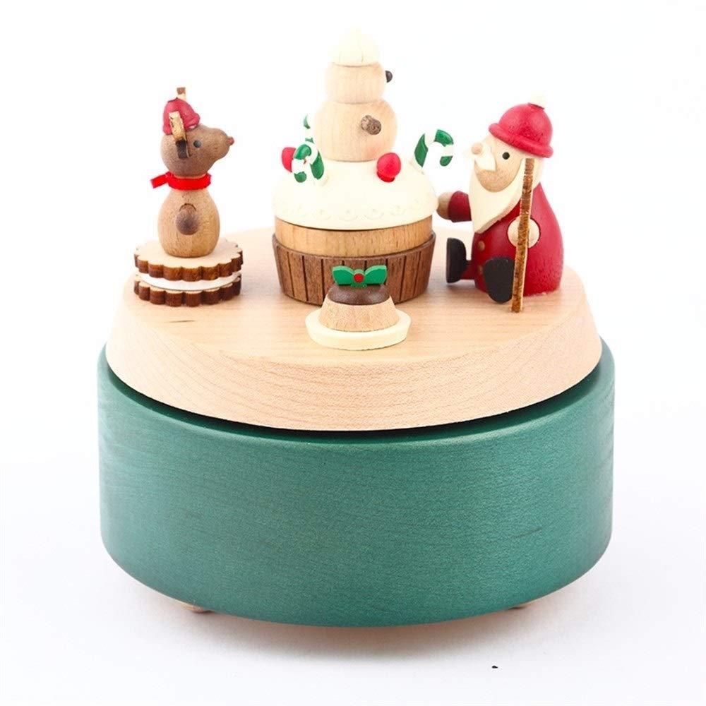 Ta-weo Caja Musical de Snowman Wind Up Music Box Regalo for Navidad/Cumpleaños/Día de San Valentín: Amazon.es: Hogar