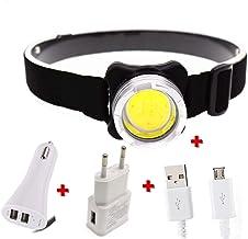WWWL Koplamp USB Oplaadbare Koplamp Mini Draagbare Koplamp torch Hoofd lamp zaklamp Hebben LED koplamp DPacking