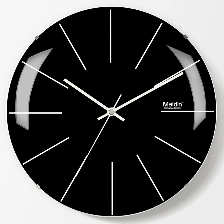 JXXDQ Rahmenlose Wanduhr Schwarz Wandaufkleber Uhr, Glasspiegel Kreative Runde Uhr, Silent Quarz Uhr Für Wohnzimmer Schlafzimmer (größe   11 inches) B07HP1QVSW  Sehr gute Qualität | Räumungsverkauf