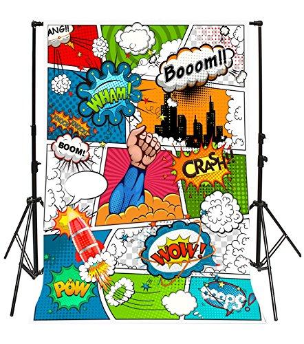 Yeele 5x7ft Cartoon Superhero Photography Background Humor...