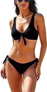 Maketina Women Bikini Set Tie Knot Cute Swimsuits Print Two Piece Bathing Suits