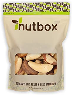 Nutbox | Raw Brazil Nuts 2 lbs, Rich in Selenium and Protein, Natural, Unsalted, Shelled, Bulk in Resealable Bags