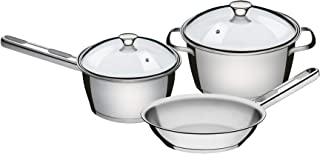 Tramontina 65660/694 3 Pcs. Cookware Set, Stainless Steel