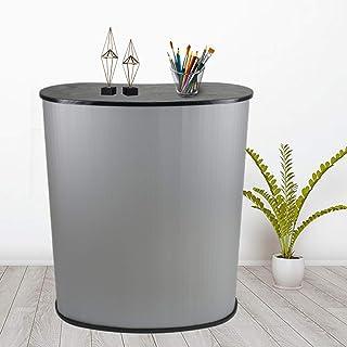 argento Kaibrite facile da installare ampio diffuso pieghevole bancone da negozio 40 x 90 x 90 cm tavolo da negozio bancone di ricevimento bancone per reception