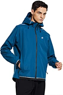 BALEAF Men's Cycling Running Jackets Lightweight Waterproof Sport Track Windbreaker Hooded Packable