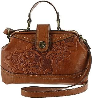 b.o.c Born Concept Leather Botanica Frame Bag Saddle Handbag