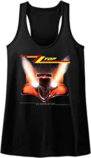 American Classics ZZ Top Rock Band Music Group Eliminator Album Cover Womens Tank Top Tee