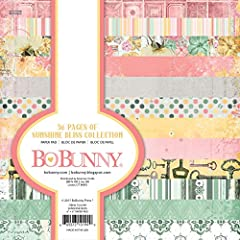 PERFECT FOR PROJECTS: Sheets are a standard 6x6 inches, great for card making and scrapbooking STORAGE READY: Pages are lignin & acid free COORDINATING PRODUCTS: Use with other Bo Bunny products to create perfectly coordinated projects