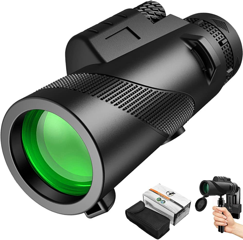 HD Monocular Telescope Cheap with Smartphone Holder 12x50 High Opening large release sale Power