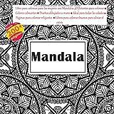 Mandala libro para colorear para las mujeres 200 Mandalas 3D flotantes para colorear - Colores calmantes - Diseños dibujados a mano - Ideal para todas ... para colorear buenos para aliviar el estrés