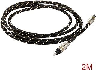 1,5//2//3//5//8//10 15M C/âble Audio Optique num/érique OD4.0 Super Long C/âble Audio Fibre Optique m/âle /à m/âle plaqu/é Or /& 0,5//1 Taille: 0,5 M Couleur: Noir