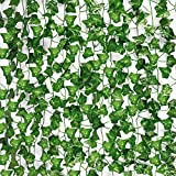 COCOBOO 21pcs Fake Vines for Room Decor Fake Ivy, Silk Ivy Garland Greenery Artificial Hanging Plant for Wedding Wall Party Decoration, 161 Feet