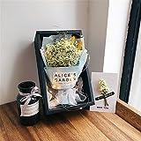 MOKOS プリザーブドフラワー 枯れない花 プレゼント ギフト花束 母の日 バレンタイン ホワイトデー 誕生日 押し花 ドライフラワー (黄色)