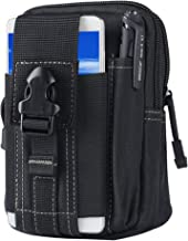 SYIDINZN Tactical Waist Belt Bag | Universal Outdoor EDC Military Holster Wallet Pouch Phone Case Gadget Pocket for iPhone X 8 7 6 6s Plus Samsung Galaxy S8 S7 S6 S5 S4 S3 Note 8 5 4 3 2 LG HTC