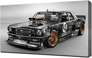 Lilarama USA 2014-Hoonigan-Ford-Mustang-RTR-by-Ken-Block-V1 Canvas Art Print - Wall Art - Canvas Wrap