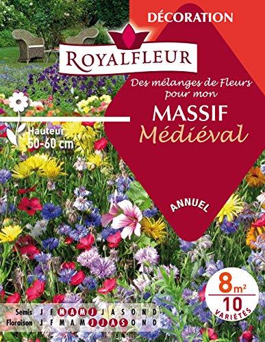 Royalfleur PFRE08338 Graines de Mélange de Fleurs mon Massif Médiéval 8 m²