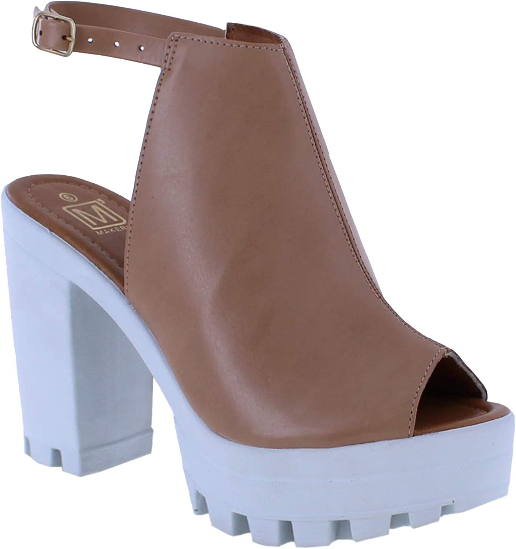 Makers's shoes Women's Route Mid Heel Pump Sandals