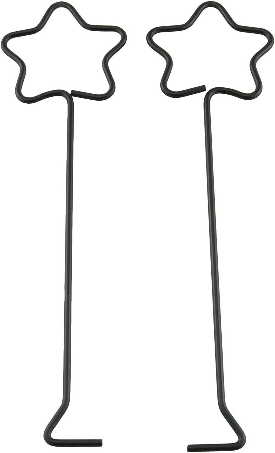 HJ Garden 2PCS Star Wick Dipper/Snuffer, Star Candle Hook (Black)