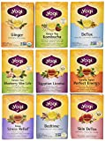 Yogi Tea Favorites - Best-Selling 9 Flavor Variety Pack - 16 Tea Bags in Each Box (Pack of 9)
