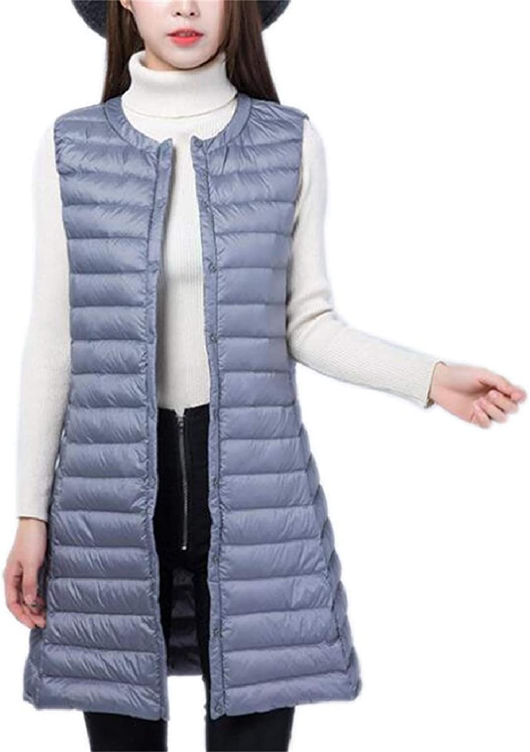 Xswsy XGCA Women Down Jacket Down Vest Lightweight Puffer Mid Long Trench Coat Vest