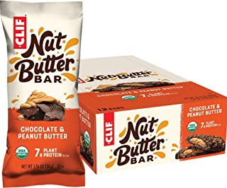CLIF Nut Butter Bar - Organic Snack Bars - Chocolate Peanut Butter - (1.76 Ounce Protein Snack Bars, 12 Count) (Packaging ...
