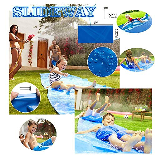 Fantastic Deal! Water Slides,Water Slide for Children Kids and Adults,Thicked Waterslide Backyard Su...