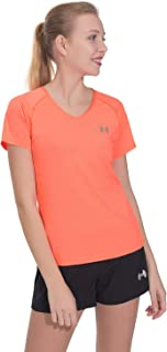 Archaeus Women Running T-Shirt Active Workout Jogging Sports V-Neck Tops