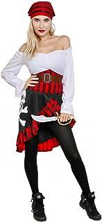 Women's Pirate Wench Costume High Seas Buccaneer Adult Captain Swashbuckler Costumes