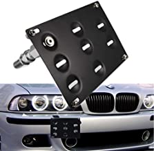 Jyeee 1 Set Front Tow Hook License Plate Bumper Mounting Bracket Fit BMW F30 F32 F33 F36 F10 F11 E84 F25 i3 3 4 5 Series X1 X3 Mini Cooper R60 R61 E55 E56