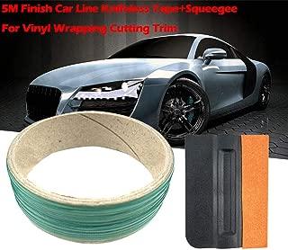Tichan 5M フィニッシュ 車ライン ナイフレステープ + スキージビニール ラッピング カッティング トリム 修正フィルム用具ボディ美ライン傷/鹿の皮のスクレーパー + 5 m 切断フィルム ライン