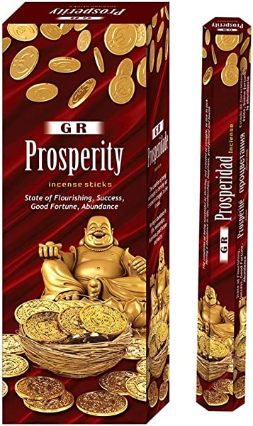GR Prosperity Incense Sticks Fragrance Aroma Pack Of 6 Boxes 20 Sticks In Each Pack